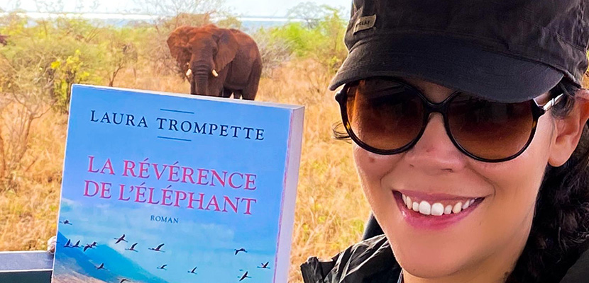 Autrice Laura Trompette in Tanganyika Expeditions